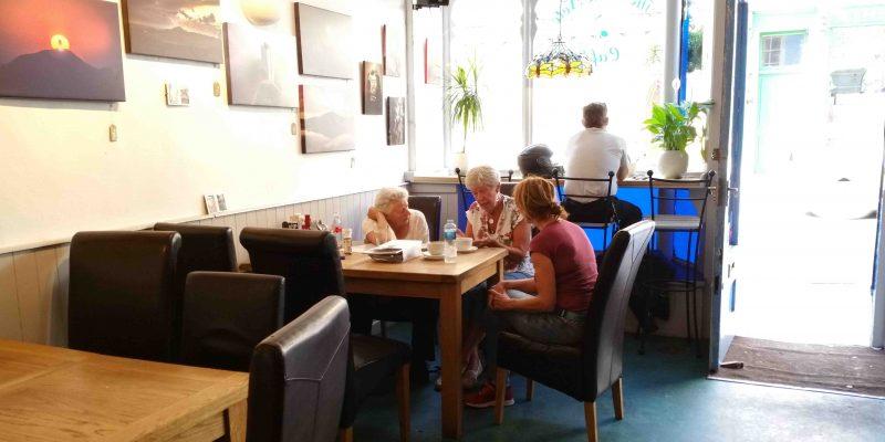 Lichtgidsen The Blue Note Cafe even genieten en bijpraten van alle indrukken