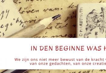 Blog In den beginne was het woord